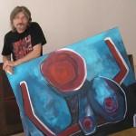 Miroslav Pangrác v atelieru