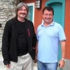 S Mírou Reitingrem ředitelem ČKRF, před domečkem