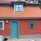 Vstup do obytné části Schieleho domu v 1 patře