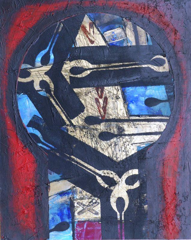 Čas Akryl na kartonu 50 x 70 cm